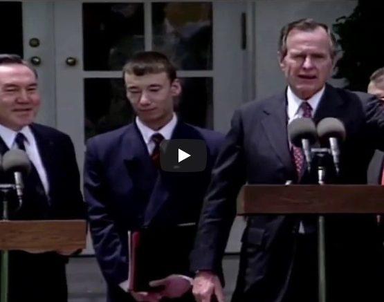 Назарбаев пен Буштың кездесуі (видео)