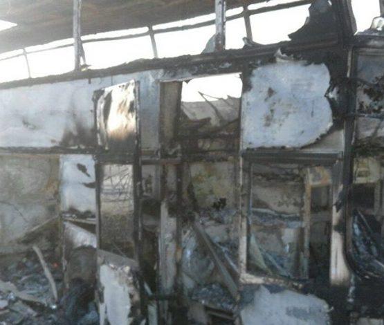 52 адам өртенген автобус қаңқасында аруақтар жүр