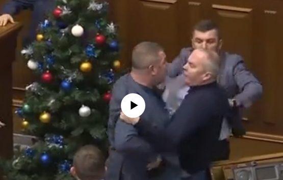 Депутаттардың төбелесі (видео)