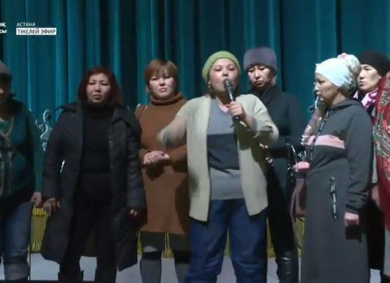 Алматы мен Астанада бір топ ана президент пен үкіметке талап қойды (видео)