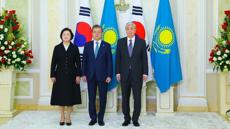 Қасым-Жомарт Тоқаев Ақордада Корея президентін қарсы алды