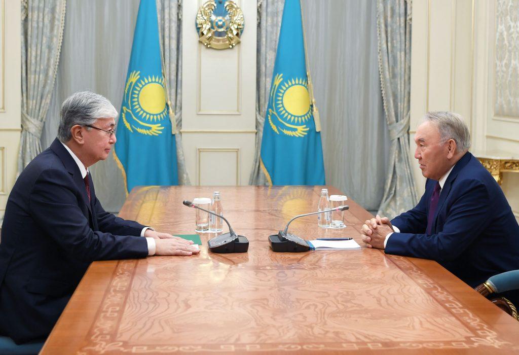 Назарбаев Тоқаевты қабылдады