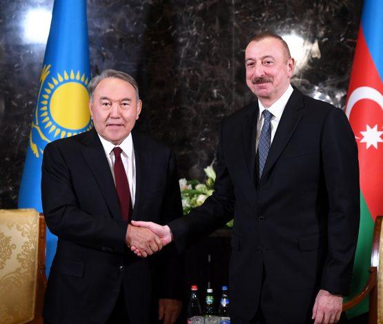 Назарбаев Әзербайжан және Қырғызстан президенттерімен кездесті