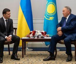 Назарбаев Зеленскиймен кездесті
