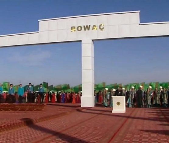 Түркіменстан президентінің жылқысының аты ауылға берілді