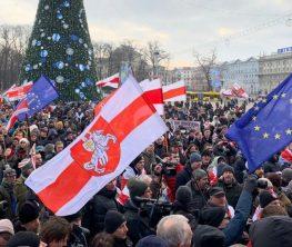 Белоруссияда Ресейге қосылуға қарсы митинг өтіп жатыр (видео)