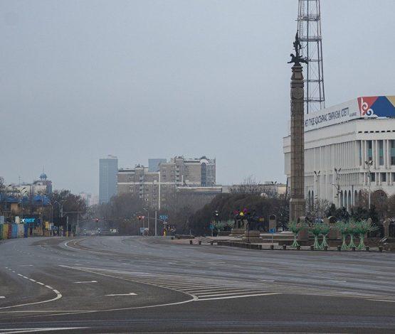 Алматы көшелері қаңырап бос қалды (фото)