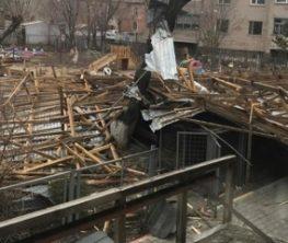 Ақмола облысында қатты жел 119 ғимараттың шатырын жұлып кеткен
