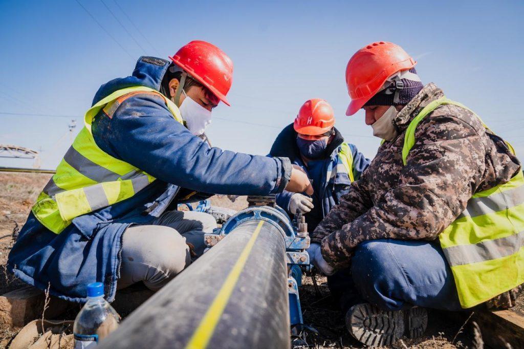 Астанада газ қосылып жатыр