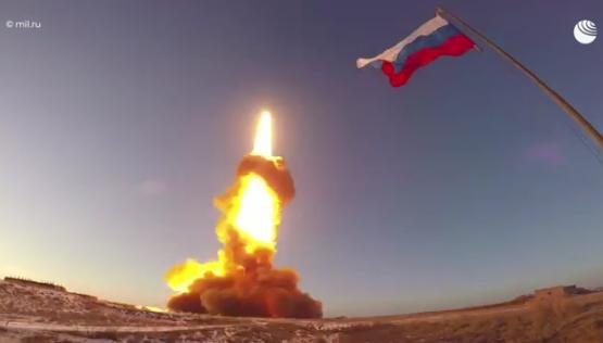 Сарышағанда Ресей әскерилері кезекті сынақ жасады (видео)