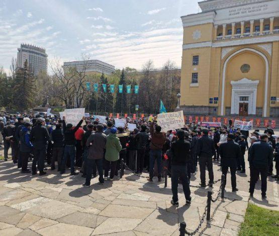 Алматыдағы митинг: 120 мың гектар жер Қытайға өтіп кетеді деп қауіптенеді
