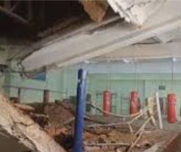 Павлодарда спорт мектебіндегі жаттығу залының төбесі опырылды